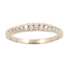 Wedding Ring with 12 Diamonds in 18ct Yellow or 18ct White Gold