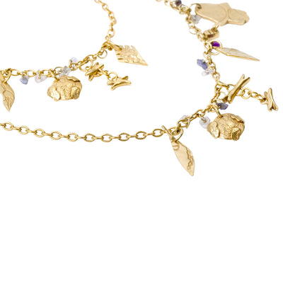 WORLD Necklace Plated Gold Silver