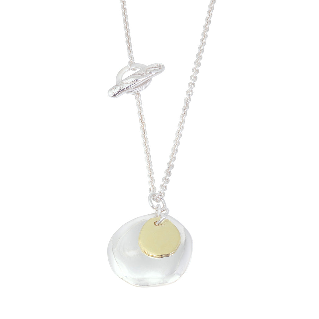 XILITLA Necklace in Silver & 18ct Yellow Gold