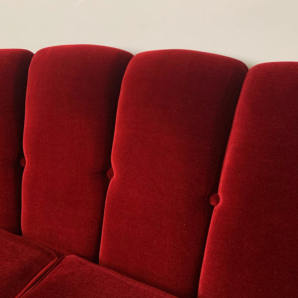 RED VELVET SOFA - HEY JUDE WORKSHOP • Vintage furniture & wares.