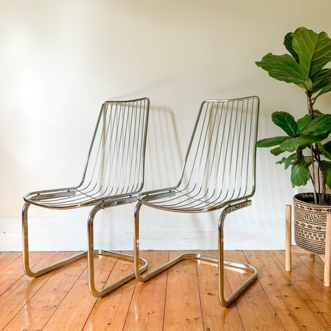 CHROME CANTILEVER CHAIRS - HEY JUDE WORKSHOP • Vintage furniture & wares.