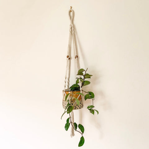MACRAME POT HANGER - HEY JUDE WORKSHOP • Vintage furniture & wares.