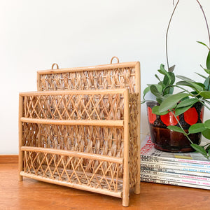 CANE HANGING SHELF - HEY JUDE WORKSHOP • Vintage furniture & wares.