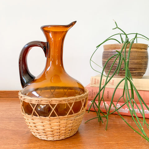 AMBER GLASS VESSEL - HEY JUDE WORKSHOP • Vintage furniture & wares.
