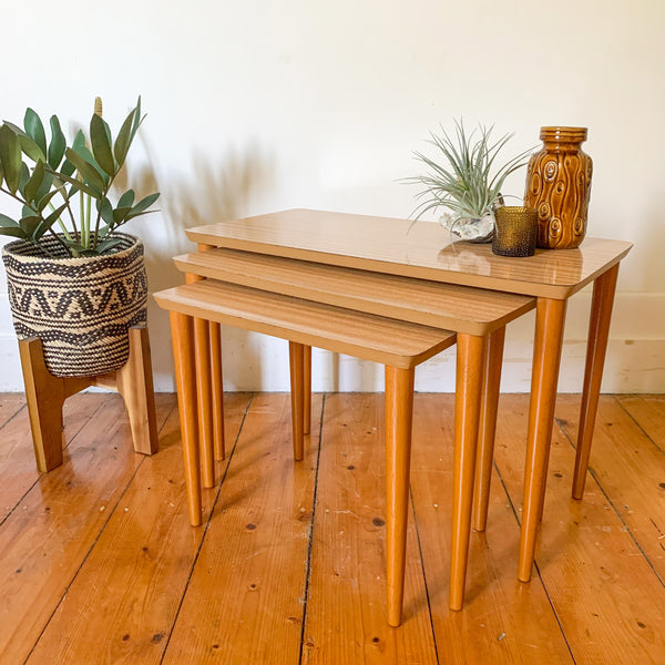 TRIO OF TABLES - HEY JUDE WORKSHOP • Vintage furniture & wares.