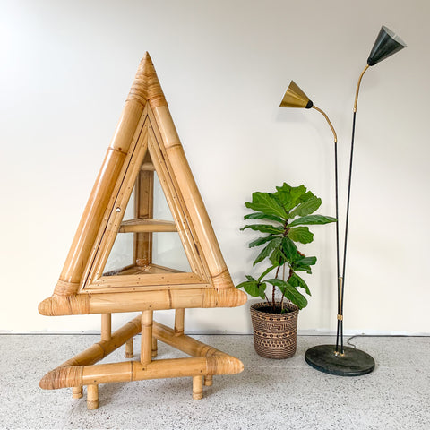 BAMBOO PYRAMID CABINET - HEY JUDE WORKSHOP • Vintage furniture & wares.