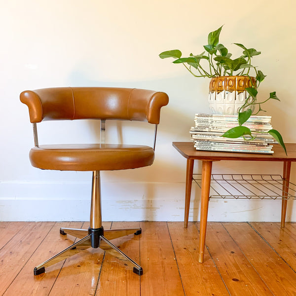 1970s VINYL SWIVEL CHAIR - HEY JUDE WORKSHOP • Vintage furniture & wares.