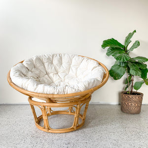 RATTAN PAPASAN CHAIR - HEY JUDE WORKSHOP • Vintage furniture & wares.