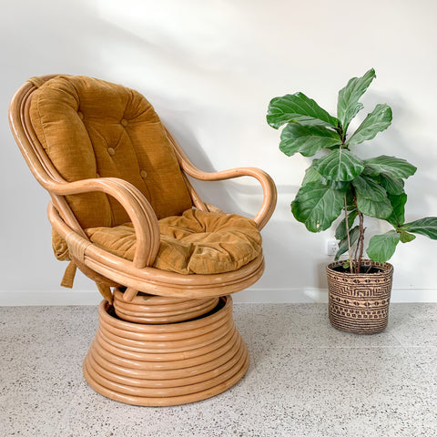 RATTAN SWIVEL CHAIR - HEY JUDE WORKSHOP