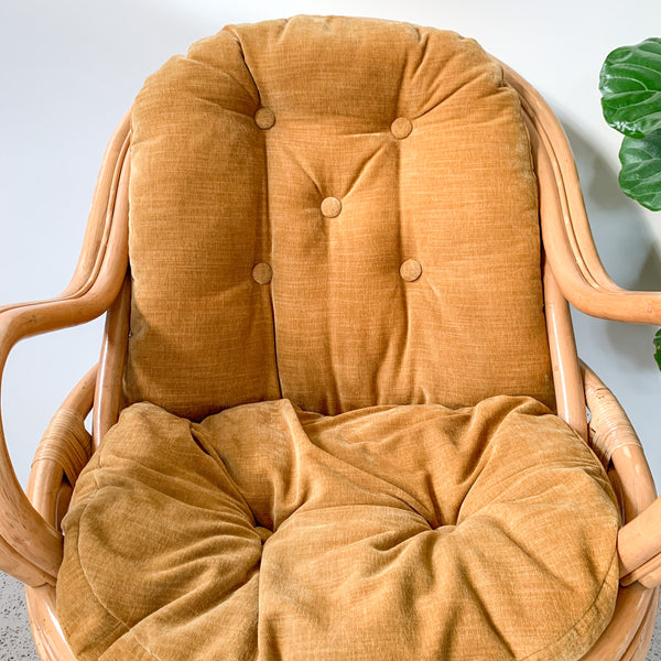 RATTAN SWIVEL CHAIR - HEY JUDE WORKSHOP • Vintage furniture & wares.