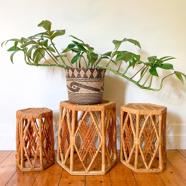 HEXAGONAL PLANT STANDS - HEY JUDE WORKSHOP • Vintage furniture & wares.