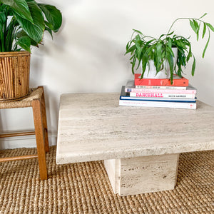 TRAVERTINE COFFEE TABLE - HEY JUDE WORKSHOP • Vintage furniture & wares.