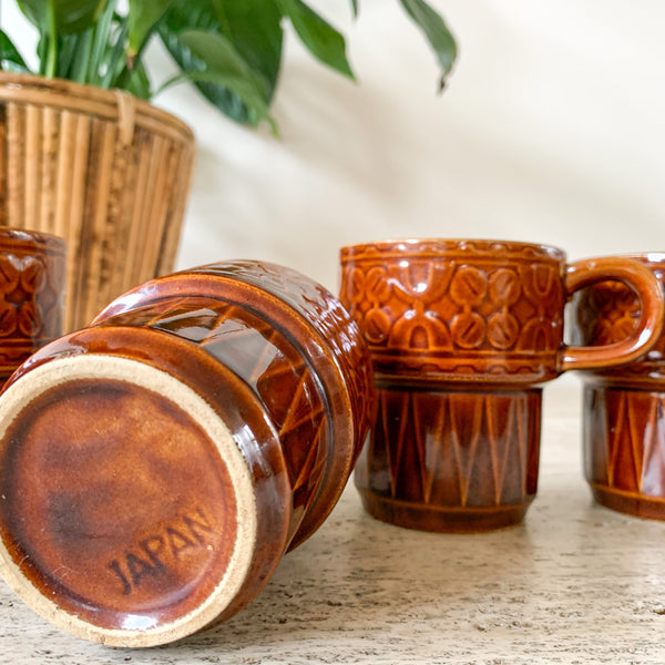 JAPANESE STACKING MUGS - HEY JUDE WORKSHOP • Vintage furniture & wares.