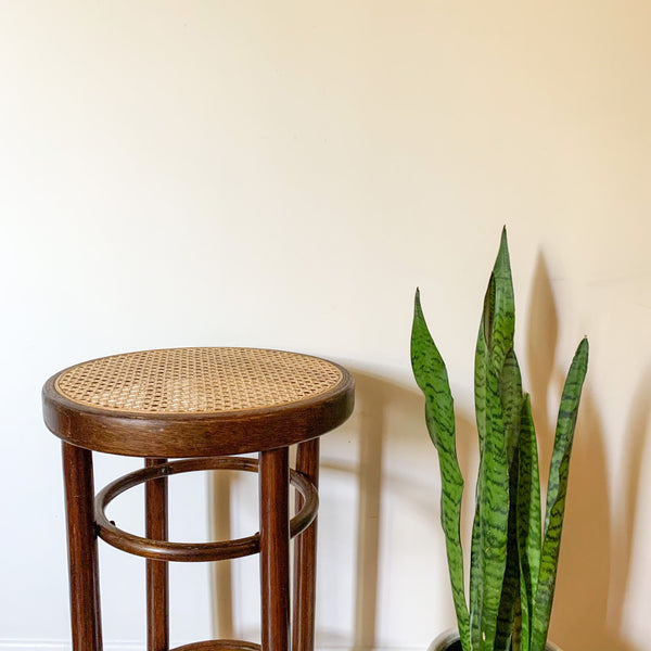 CANE BENTWOOD STOOL - HEY JUDE WORKSHOP • Vintage furniture & wares.