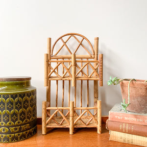 RATTAN LETTER RACK - HEY JUDE WORKSHOP • Vintage furniture & wares.