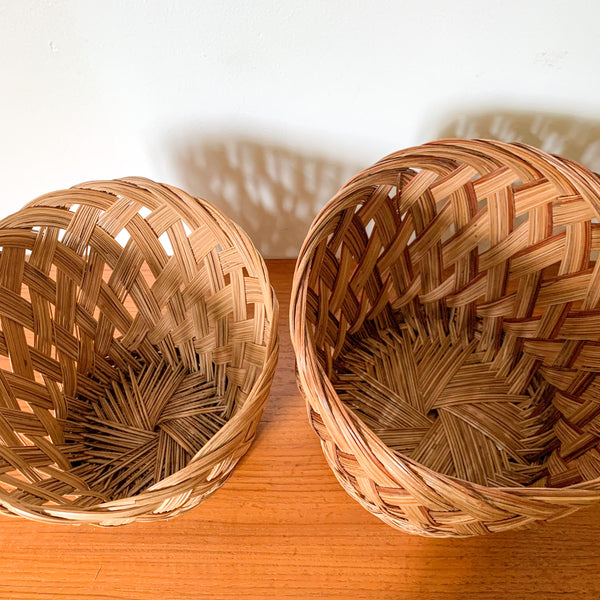 RATTAN HANGING PLANTER WITH SHELF - HEY JUDE WORKSHOP