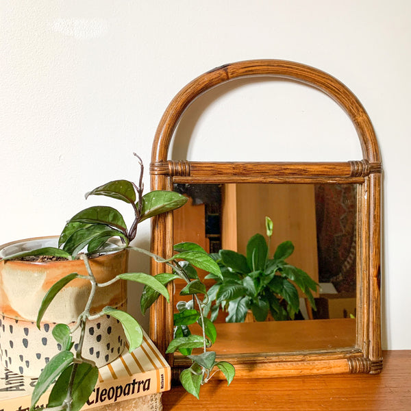 SQUARE RATTAN WALL MIRROR - HEY JUDE WORKSHOP • Vintage furniture & wares.