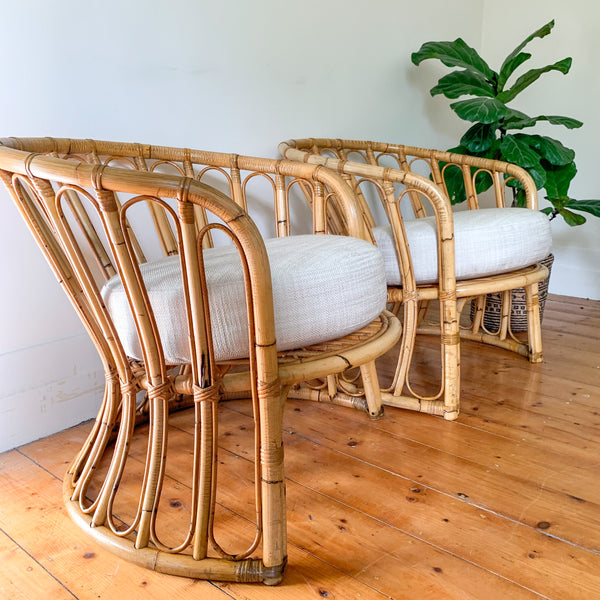 RATTAN SOFA SET - HEY JUDE WORKSHOP • Vintage furniture & wares.