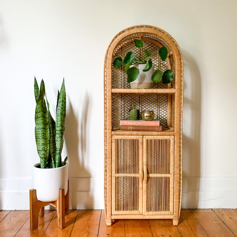 CANE HUTCH WITH CUPBOARD - HEY JUDE WORKSHOP • Vintage furniture & wares.