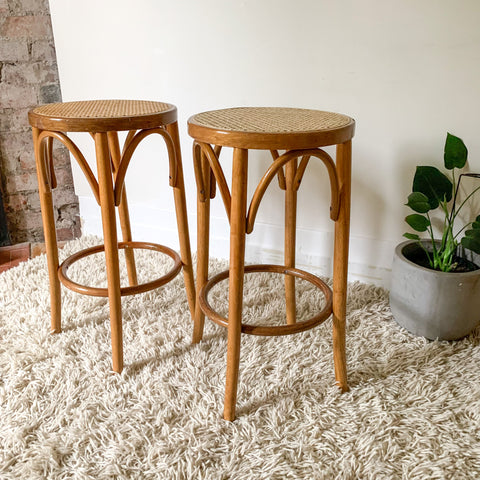 BLACK TUBULAR NESTING SIDE TABLES - HEY JUDE WORKSHOP • Vintage furniture & wares.