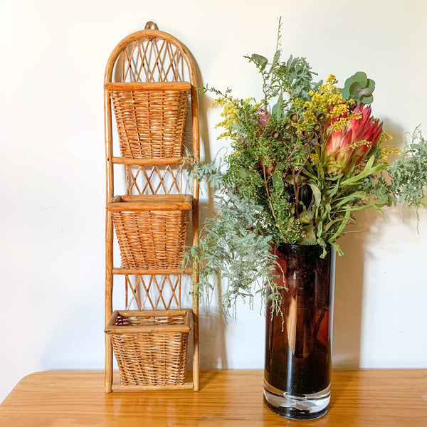 RATTAN HANGING LETTER RACK - HEY JUDE WORKSHOP • Vintage furniture & wares.