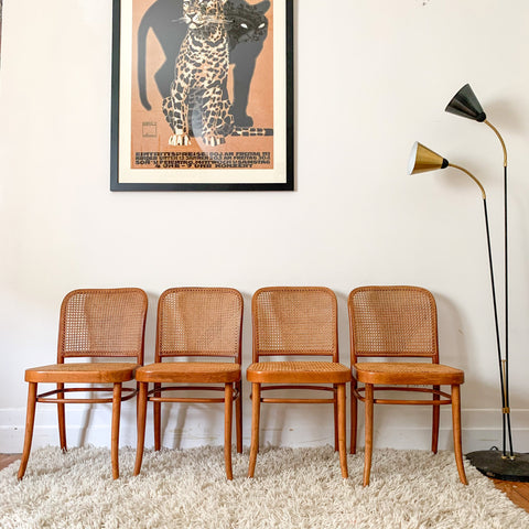 DREVOUNIA RATTAN BENTWOOD CHAIRS - HEY JUDE WORKSHOP • Vintage furniture & wares.