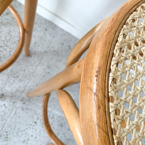 RATTAN BENTWOOD STOOLS - HEY JUDE WORKSHOP • Vintage furniture & wares.