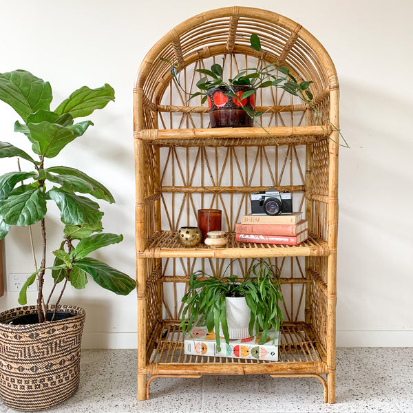 RATTAN HUTCH - HEY JUDE WORKSHOP • Vintage furniture & wares.