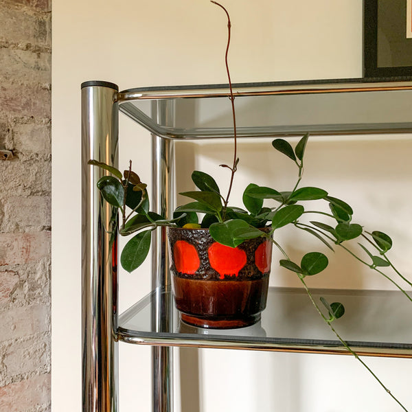 CHROME SMOKY GLASS SHELVES - HEY JUDE WORKSHOP • Vintage furniture & wares.