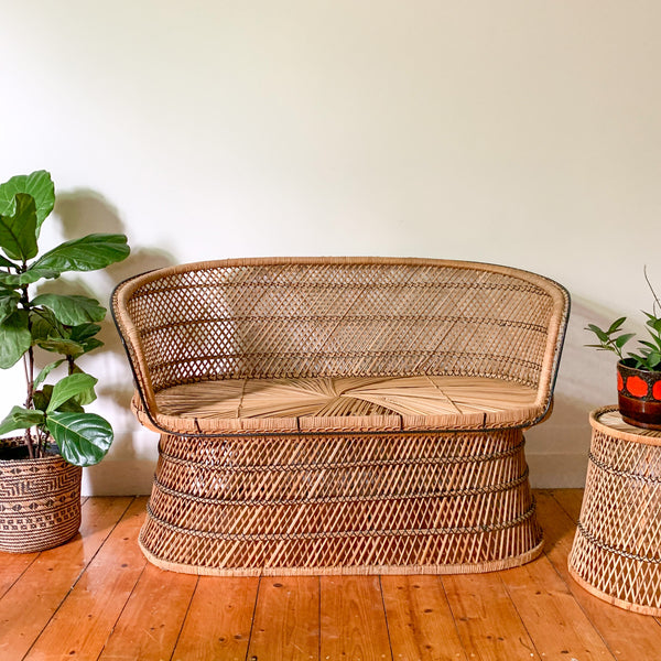 CANE STARBURST SOFA - HEY JUDE WORKSHOP • Vintage furniture & wares.