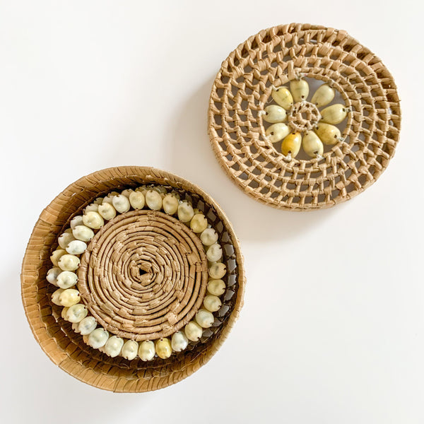 COWRY SHELL COASTER SET - HEY JUDE WORKSHOP • Vintage furniture & wares.