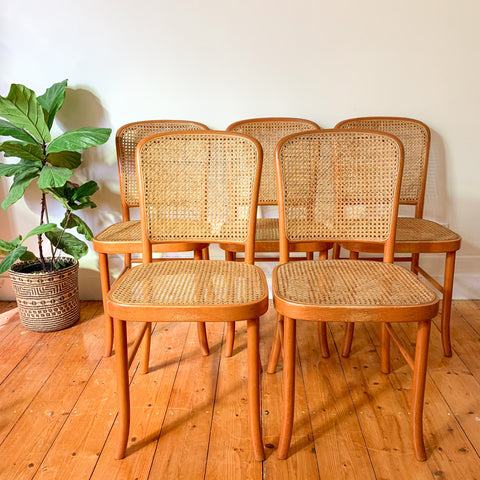 RATTAN BENTWOOD DINING CHAIRS - HEY JUDE WORKSHOP