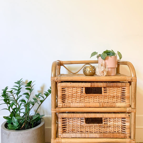 CANE BASKET DRAWERS - HEY JUDE WORKSHOP • Vintage furniture & wares.