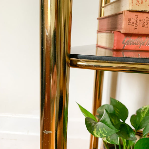 BRASS CORNER SHELVES - HEY JUDE WORKSHOP • Vintage furniture & wares.