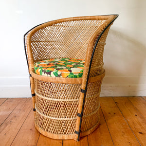 CANE TUB CHAIR - HEY JUDE WORKSHOP • Vintage furniture & wares.