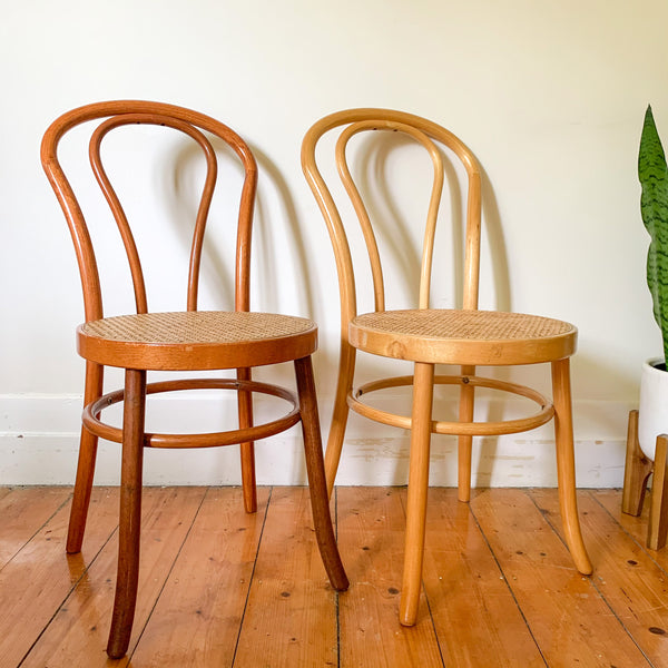 BENTWOOD RATTAN CHAIRS - HEY JUDE WORKSHOP • Vintage furniture & wares.