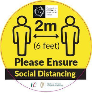 Social Distance Round Covid-19 Floor Sticker