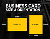 90 mm X 55 mm Business Cards - PremierPrinting.ie