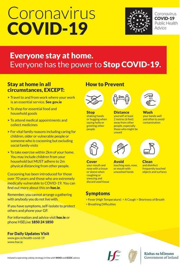 A3 Covid-19 Power To Stop Poster