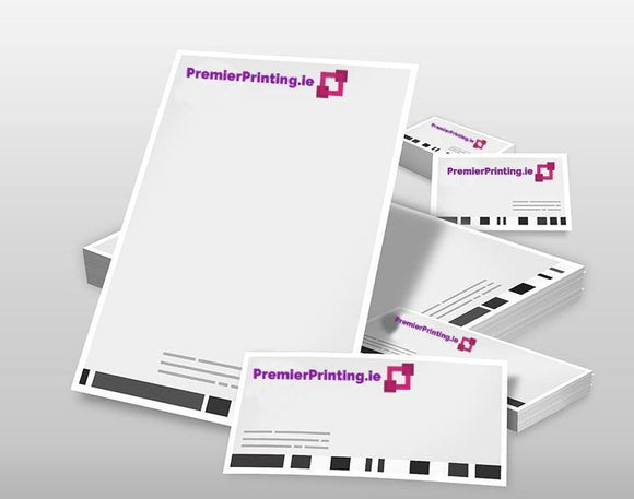 Ultimate Business Stationery Pack! Letterheads, Business Cards, Compliment Slips & Envelopes - PremierPrinting.ie