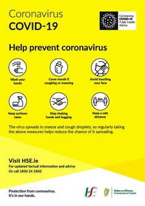A4 Covid-19 Prevention Poster - PremierPrinting.ie