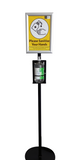 Virapro 1000ml Steel Floor Sanitiser Stand with A4 Clip Frame Sign - PremierPrinting.ie