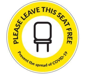 Please Leave This Seat Free- Vinyl Sticker - PremierPrinting.ie