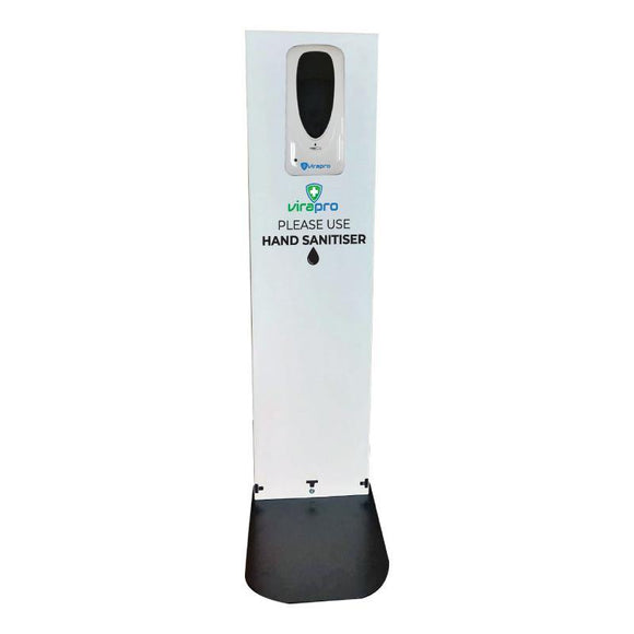 Virapro Automatic Handsfree Steel Floor Stand & Dispenser, 1 Litre Bulk Fill - PremierPrinting.ie