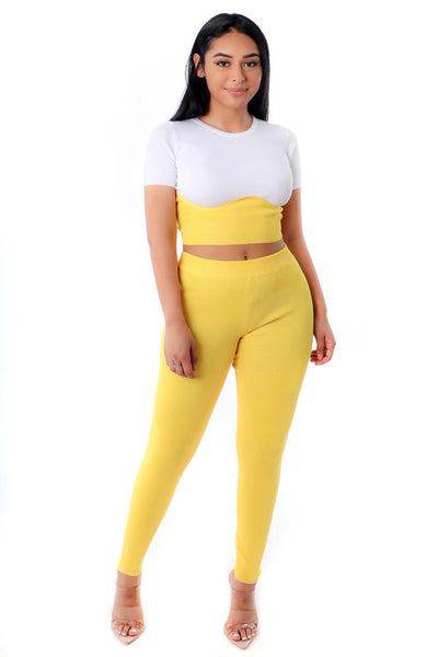 2 PIECE YELLOW SET