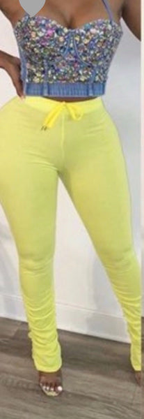 Neon yellow Stacker Pants