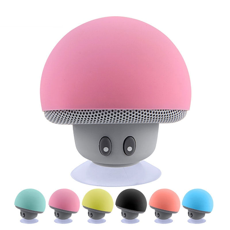 Mini Bluetooth Speaker Waterproof Mushroom Shape