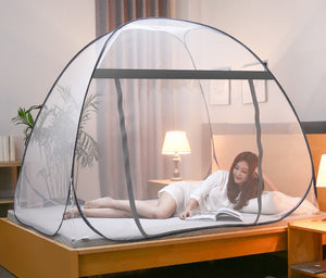 Yurt Mosquito Net - Moustiquaire Net For Single Double Bed