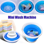 Folding Laundry Tub - Portable Mini Washing Machine Automatic