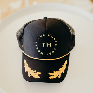 The House Circle Black & Gold Hat